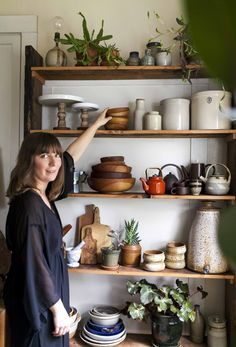 What I Love:  Anne's Thrifted and Collected-Abroad Cookware Treasures   Kitchen Tour (now where did I put those old boards...)