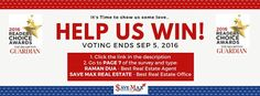 Hello Brampton,  Please take a minute to vote and help us win the 2016 The Brampton Guardian Readers Choice Awards. Click http://survey.metroland.com/TakeSurvey.aspx…& 1. Go to PAGE 7 of the survey and type: Raman Dua - Best Real Estate Agent  Save Max Real Estate - Best Real Estate Office 2. Click Done! Save Max Real Estate - Google+