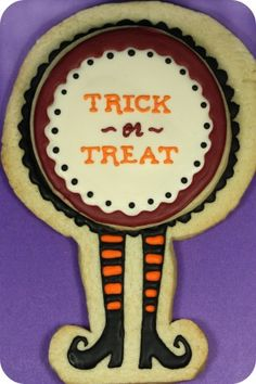 Trick or treat halloween cookie