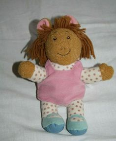 "Playskool Arthur Sister TALKING DW 9"" Plush Stuffed Soft Toy Doll Marc Brown '96 #Playskool Plush Dolls, Doll Toys, Baby Dolls, Arthur's Sister, Beautiful Dolls, Teddy Bear, Brown, Character, Animals"