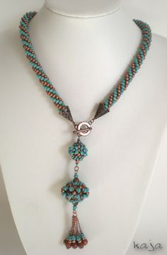 Necklace - Bead crochet