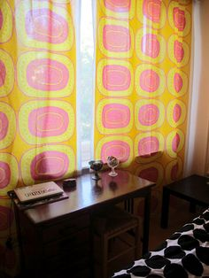 Noitarumpu curtains in a Finnish home. House, Curtains, Home, Marimekko, Table Cloth, Old Houses, Home Decor, How To Make Curtains, Room