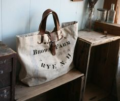 love this rustic tote