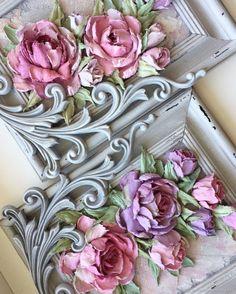 Купить Панно Cкульптурная живопись Розы в интернет магазине на Ярмарке Мастеров
