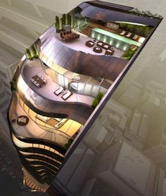 The Penthouse Terraces at The Eliza Luxury Apartments Tower in Sydney -Tuba TANIK