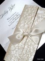 invitations unique glamour silver bling sparkle elegant wedding