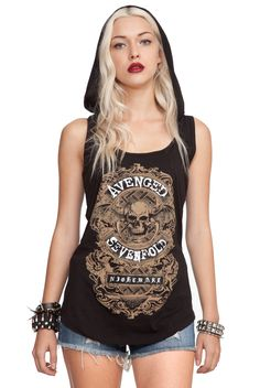 Avenged Sevenfold Nightmare Hooded Girls Tank Top | Hot Topic