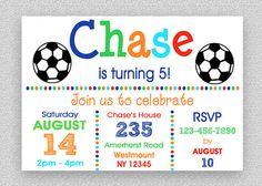 Soccer Invitation  Soccer Birthday by TheTrendyButterfly on Etsy