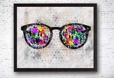 Eye Art Optometrist Decor Optometrist Office Eye on Canvas Optometry Office, Optical Shop, Doctor Gifts, Mixed Media Artwork, Eye Art, Artist Canvas, Store Design, Eyeglasses, Art Decor