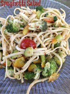 Spaghetti Salad Recipe | http://just2sisters.com/spaghetti-salad-recipe/