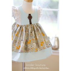 Fall Baby Fox and Friends Dress - Kinder Kouture Boutique Clothing - 4