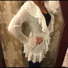 25% off($13) NWOT Wrap Cardigan Tie Sweater! NWOT FABULOUS White sweater/cardigan. Ties at waist. From macys. Light weight but very warm! 100% acrylic. JohnPaulRichard Sweaters Cardigans