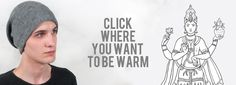 TOUCH this image: Find your hat, Look at mittens and handwarmers, by Nirvanna Designs