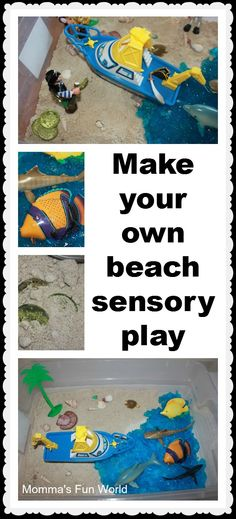 Momma's Fun World: Pirates and beach sensory play