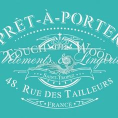 shabby chic stencil: vintage pret-a-porter french advert