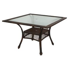 Monterey Square Wicker Patio Dining Table