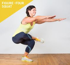 40 Squat Variations (including the Figure Four Squat, other body weight squat variations and ones with equipment!)