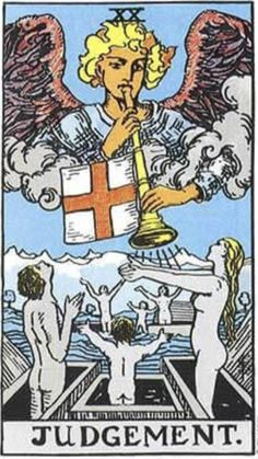 Tarot Card by Card - Tarot Card Meanings - The Tarot Lady Judgement Tarot Card, Tarot Cards Major Arcana, Tarot Significado, Rider Waite Tarot Cards, Tarot Tattoo, Love Tarot, Tarot Card Meanings, Tarot Card Decks, Card Reading