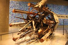 Mangled portion of the communications tower that was atop the North Tower. World Trade Center Memorial, New York City Trade Centre, World Trade Center, Communication Tower, North Tower, Memorial Museum, New York City, Memories, New York, Nyc