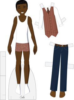 Cole vector paper doll * 1500 free paper dolls at Arielle Gabriels The International Paper Doll Society also free Asian paper dolls at The China Adventures of Arielle Gabriel *