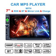 Buy US $63.90  7 Inch 2Din 800*480 HD Touch Screen Car Video MP5 Player AM / FM / RDS Radio Support BT Mirror Link / Aux In /Steering Wheel  #Inch #Touch #Screen #Video #Player #Radio #Support #Mirror #Link #Steering #Wheel  #BestSeller