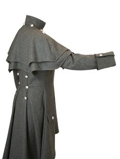 1800s Fashion, Gothic Fashion, Inverness Coat, Cool Outfits, Fashion Outfits, Period Outfit, Lady Grey, Cosplay, Coats For Women
