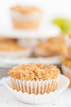 This recipe for Apple Crumb Cakes makes extremely light, moist cakes that you can make in regular or jumbo muffin tins. They are the perfect little treat to enjoy with coffee, tea or a big glass of cold milk. Apple Crumb Cakes are delicious and so very easy to make. Whether you make these in jumbo or regular muffin tins the baking time will be the same. You won't be disappointed once you taste this little gem! Enjoy!