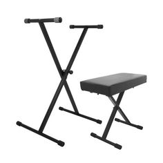 Padded Piano Bench Electric Keyboard Stand Modern Key Board Stand Seat Black New #Keystand