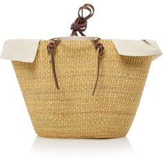 Muun Racco Bow Straw Tote (345 CAD) ❤ liked on Polyvore featuring bags, handbags, tote bags, tan, woven tote, evening purses, straw tote handbags, woven tote bags and straw handbags