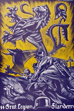 Плакаты иностранных добровольческих формирований СС. Пропаганда Третьего Рейха. История пропаганды