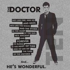 """…and he's wonderful"" yup pretty much"
