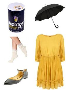 If You Have: A yellow dress (or yellow raincoat), flats, little socks, and an umbrella. Bonus Points: If it's actually raining. You'll be the only partygoer whose rain gear doesn't interfere with her costume.