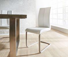 DELIFE Freischwinger Prosperus Weiss gepolsterte Rückenlehne, Esszimmerstühle Jetzt bestellen unter: https://moebel.ladendirekt.de/kueche-und-esszimmer/stuehle-und-hocker/freischwinger/?uid=fa17b881-fecf-55d5-ad0b-5da22b218e24&utm_source=pinterest&utm_medium=pin&utm_campaign=boards #freischwinger #kueche #esszimmer #hocker #stuehle