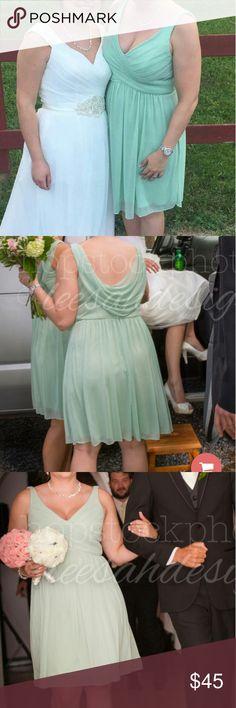 David's Bridal Dress Unaltered Size 12 Meadow Green David's Bridal Dresses