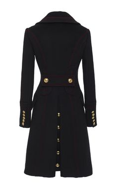 Double Breasted Luggage Stitch Military Coat by BURBERRY for Preorder on Moda Operandi