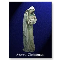 Mary and the Christ Child Christmas Postcard from www.zazzle.com/stevebrownleeart