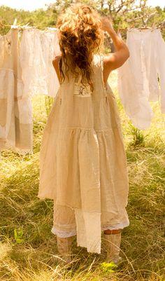 Euro Linen French Farm Dress