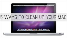 "I'm terrible about keeping my computer ""clean,"" which inevitably leads to me throwing things in frustration because my computer moves so slowly. These are five easy steps that might lead to fewer projectiles in my house. Mac Book, Deep Cleaning Tips, Cleaning Hacks, Clean Mac, Mac Tips, Homemade Toilet Cleaner, Clean Dishwasher, Clean Freak, Toilet Cleaning"