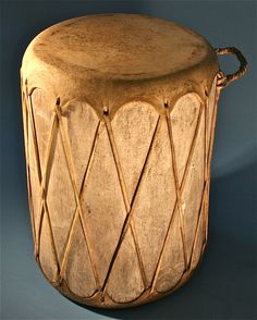 Antique Percussion Musical Instrument Tribal Leather Wooden Drum http://www.busaccagallery.com/catalog.php?catid=212=5854=1