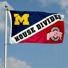 Michigan vs. Ohio State House Divided 3x5 Flag