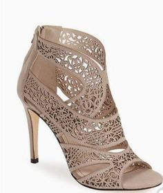 Nordstrom Heels - Klub Nico 'Mallorca' Laser Cutout Sandal (Women) available at Pretty Shoes, Beautiful Shoes, Cute Shoes, Me Too Shoes, Shoe Boots, Shoes Heels, Heeled Sandals, Ankle Boots, Nude Sandals