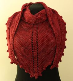 download now Raspberry is a small, triangular shawl with lots of drape. I've designed it to be wider so that it wraps easily around the shoulders. My shawl uses two strands of Indigo Moon Fingering...