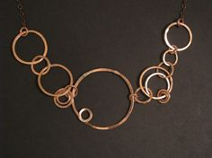 Copper Necklace  Asymmetrical Design by jamiespinello on Etsy, $52.00
