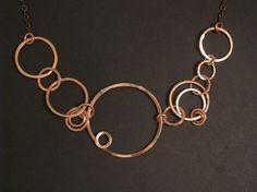 Kupfer Halskette - Asymmetrisches Design - Hand geschmiedete Kupfer Schmuck ★NOTE★This Element ist MADE TO ORDER und benötigt 2 Wochen für die