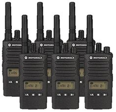 6 Pack of Motorola Two way Radio Walkie Talkies: Six-pack of Motorola radios. Each of our radios comes complete with a single-unit charger, 15 hour lithium ion battery pack and swivel belt holster. Electronics For You, Radios, Two Way Radio, Sports Gifts, Boombox, 6 Packs, Car Audio, Walkie Talkie, Chara
