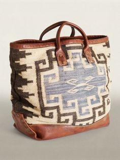 Ralph Lauren RRL Everett Tote Bag- I don't even carry purses but I love this Sacs Tote Bags, Boho, Ralph Lauren Tote Bags, Fashion Accessories, Women Accessories, Diy Sac, Over Boots, Estilo Hippie, Carpet Bag