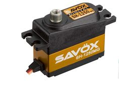 Savox SH-1250MG Super Torque Metal Gear Micro Digital Servo - 3 Pack