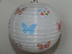 "Lampenschirm/Kinderlampe+""Schmetterlinge""+von+muggel's+welt+auf+DaWanda.com"