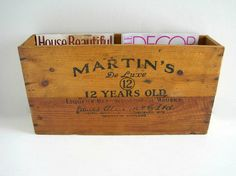 Vintage Wood Box Whiskey Crate - Rustic Country Decor via Etsy for cards