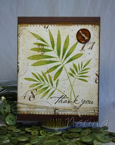 Masculine Thank You by Nerina's Cards, via Flickr